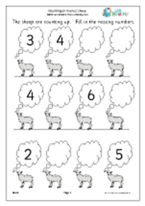 completing a number line sheep number lines maths worksheets for later reception age 4 5