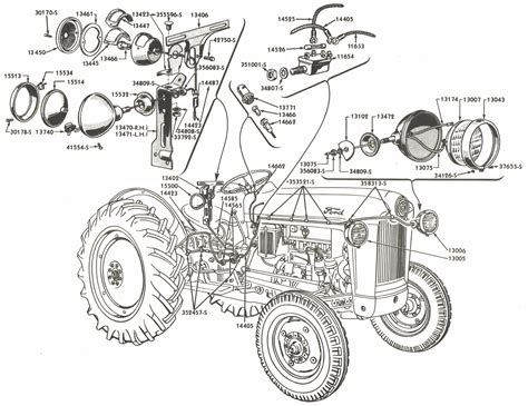 Naa Ford Tractor Wiring Diagram Light by Lighting Wiring Parts For Ford Jubilee Naa Tractors