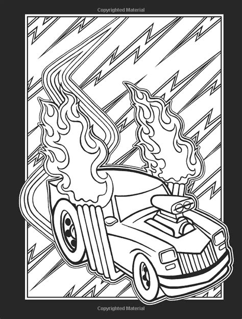 Hot Rod Tattoos Stained Glass Coloring Book (Dover Stained Glass Coloring Book): Jeremy Elder