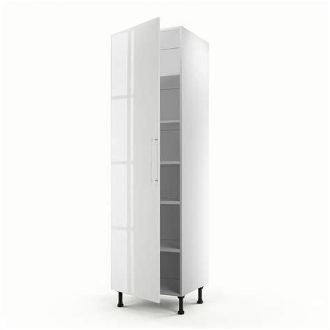 colonne cuisine 50 cm meuble de cuisine colonne blanc 1 porte h 200 x l 60 x