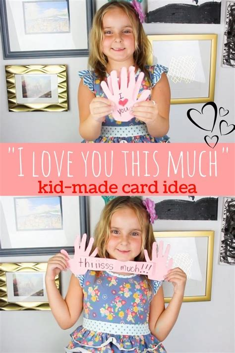 cute kid  card idea perfect  mothers day