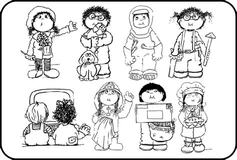11418 community helpers clipart black and white community helpers career clip