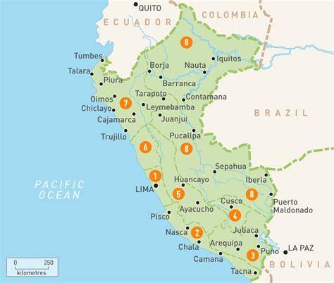 map  peru peru regions rough guides rough guides