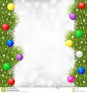 Guirlande De Photo : la carte de no l avec la guirlande de branche de sapin a d cor la boule multicolore ~ Nature-et-papiers.com Idées de Décoration