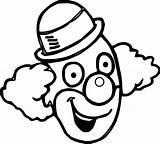 Clown Malvorlage Clowngesicht Wecoloringpage Getdrawings Clipartmag Manet Kerra Vectorified Getdrawingscom sketch template