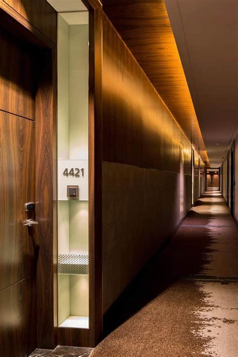 20 long corridor design ideas for hotels and spaces