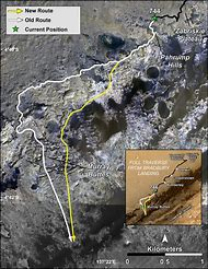 Mars Curiosity Rover Map