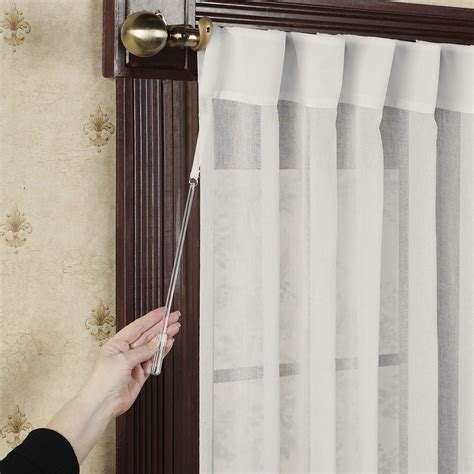 Back Tab Drapes by Lucerne Semi Sheer Patio Curtain Panel