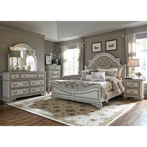upholstered king bedroom set liberty furniture magnolia manor libe grp 244 kingsuite
