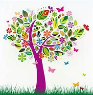 Free Clip Art Flowers and Trees