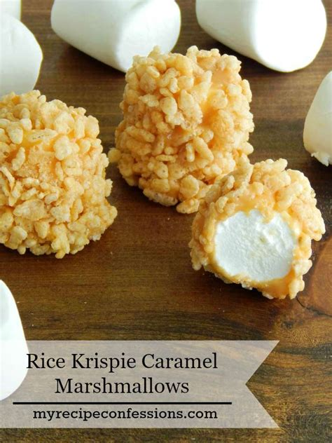 desserts to make with rice krispies rice krispie caramel marshmallows my recipe confessions