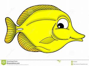 Yellow tang fish stock illustration. Image of fish ...