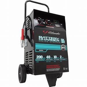 Schumacher Wheeled Battery Charger With Engine Start  U2014 6