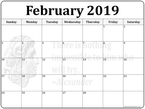 calendar template 2019 february 2019 calendar 56 templates of 2019 printable calendars