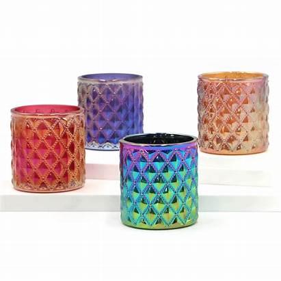Candle Wholesale Making Glass Jar Luxury Iridescent