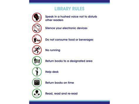 Self Adhesive Vinyl Library Rules Sign   Biblio RPL Ltée