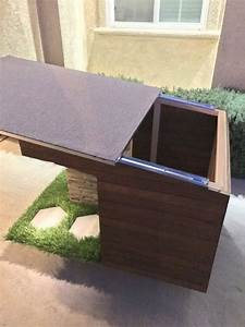 custom made dog house made will all outdoor material With solar powered dog house