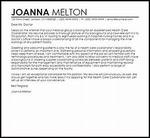 health care coordinator cover letter sample livecareer With scheduling coordinator cover letter