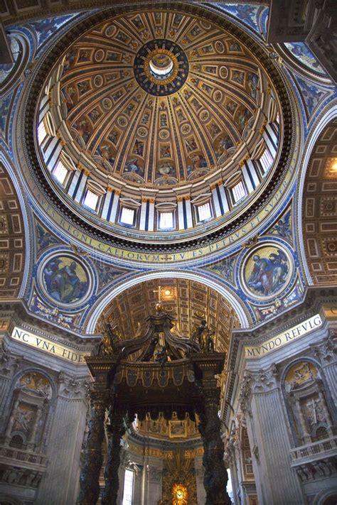 cupola bernini vatican inside michaelangelo s dome rome italy stock photo