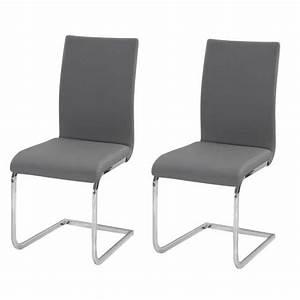 Lea lot de 2 chaises de salle a manger en simil achat for Salle À manger contemporaineavec lot chaises