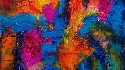 Paint Canvas Colorful Stains Background Painting Texture