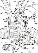 Swing Tire Zombie Babies Tree Drawing Pages Coloring Template Deviantart Swings Sketch Sheets Getdrawings sketch template