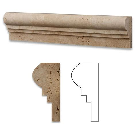 ivory travertine og 2 chair rail molding trim honed