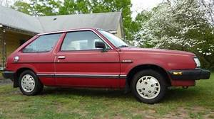 Red 1988 Subaru Gl 2 Door Hatchback Classic Vintage