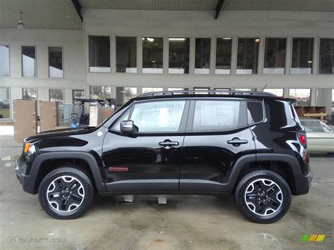 jeep renegade dark blue 2017 black jeep renegade trailhawk 4x4 117391329