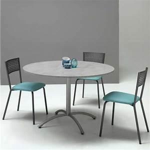 Petite Table Extensible : table ronde pied central extensible en m lamin et m tal rio twin 4 ~ Teatrodelosmanantiales.com Idées de Décoration