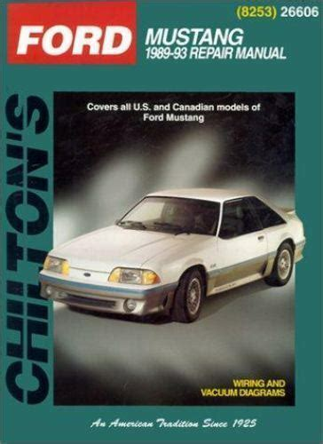 free service manuals online 1990 ford mustang navigation system 1989 1993 chilton ford mustang repair manual 801988152 ebay