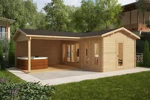 Gartenhaus Mit Terrasse : eck gartenhaus hansa corner b 18m2 44mm 3x6 hansagarten24 ~ Whattoseeinmadrid.com Haus und Dekorationen