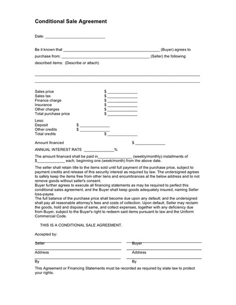 car purchase agreement   documents