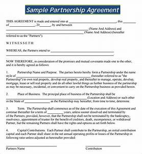 sample partnership agreement 13 free documents download With corporate partnership agreement template