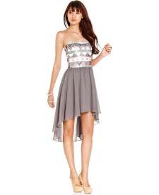 junior bridesmaid dresses macy s as u wish juniors dress strapless sequin from macys dresses