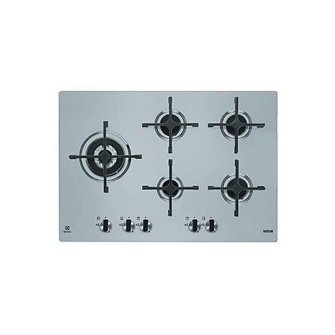 piano cottura 75 egs 7658sxx electrolux piano cottura da 75 cm 5 fuochi