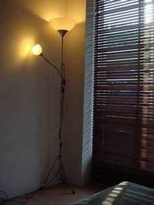 very old not uplight reading lamp gets new feet ikea With tertial floor reading lamp