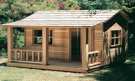 wooden playhouse plans girls playhouse plans simple house plans  build  mexzhousecom