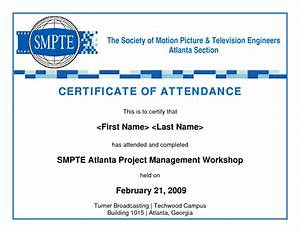 Best photos of sample certificate of attendance template for Certificate of attendance seminar template