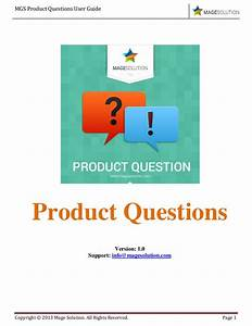 Mgs Product Questions User Guide