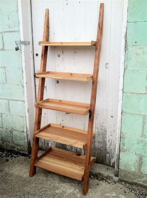 wood ladder shelf projects revival woodworks