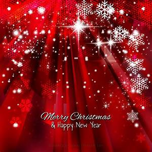 Dark Red Sparkles Christmas Snowflake Background Template