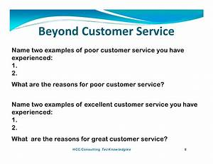 beyond customer service by paul kostreski With examples of good customer service