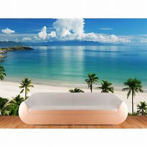 Beach wall mural decals palm tree
