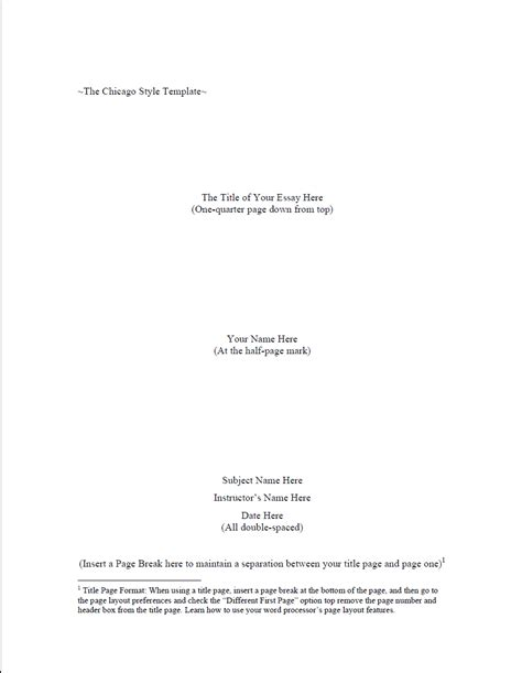 chicago style paper template chicago style research paper writing help template sle format bookwormlab