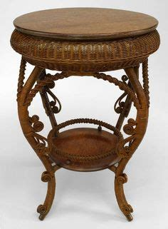 victorian era table ls american oak wicker and rattan fern stand c 1885