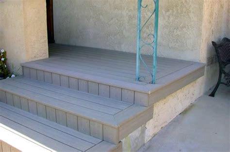 composite deck composite deck  concrete patio front