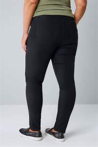Black Super Stretch Skinny Jeans Plus Size 16 To 28