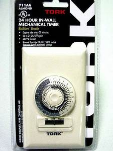 Wall Timer 24 Hour Mechanical   15a Tork 711aa Ul Listed