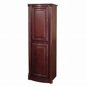 Foremost 54quot wingate bathroom linen cabinet deep cherry for How deep is a bathroom vanity